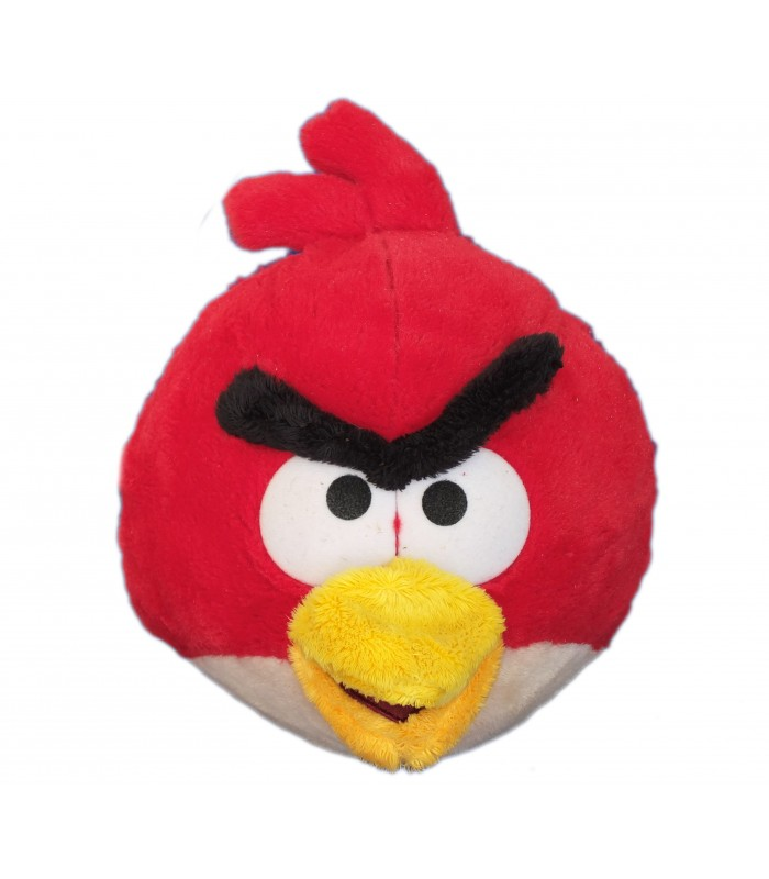 Peluche angry birds oiseau rouge plush soft toy h 25 cm - Angry birds rouge ...