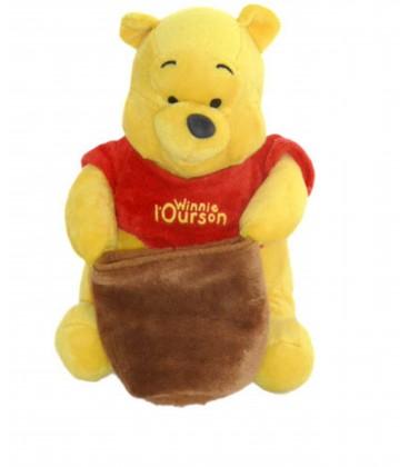 Doudou peluche WINNIE L'OURSON - Pot de Miel - 22 cm - Disney Cémoi