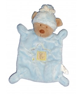 Doudou plat OURS bleu Fenêtre - Nicotoy Simba Dickie 570/0069 20778