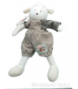 Moulin Roty Peluche Doudou albert Le Mouton blanc La Grande Famille 32 cm