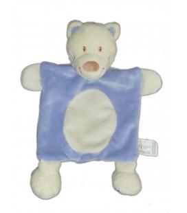 Doudou Plat CHAT bleu rond blanc - Vêtir Kiabi - Avda