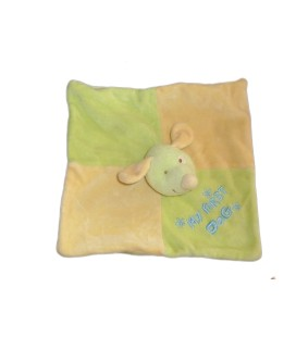 Doudou plat CHIEN Souris orange Vert - My first dog - KIABI Baby