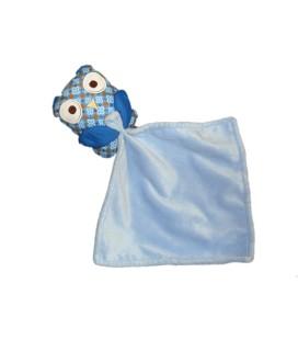 Doudou hibou mouchoir bleu Pommette 55752464