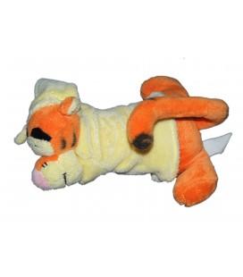 Doudou TIGROU dormeur allongé 22 cm Disney Nicotoy Bonnet jaune