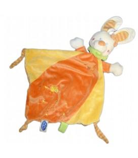 Doudou plat Jaune orange MOTS D'ENFANTS Siplec Leclerc Poussin brodé 579/0556