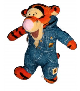 Doudou peluche TIGROU Habillé en jean - Tigger Playground - H 22 cm