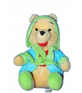 Doudou peluche Winnie Peignoir Vert - H 22 cm - PTS SRL chez vous des demain