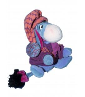 Doudou peluche BOURRIQUET - Neige Bonnet Pull flocon Ski Noël - H 16 cm - Disney Store