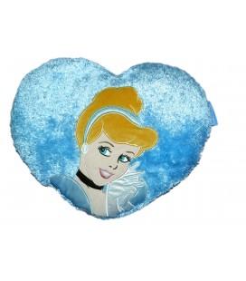 Peluche Coussin Coeur Princesse Cendrillon - 45 cm - Disneyland resort Paris