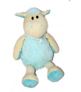 Doudou peluche Mouton agneau Bleu blanc 38 cm ALTHANS CLUB 6057