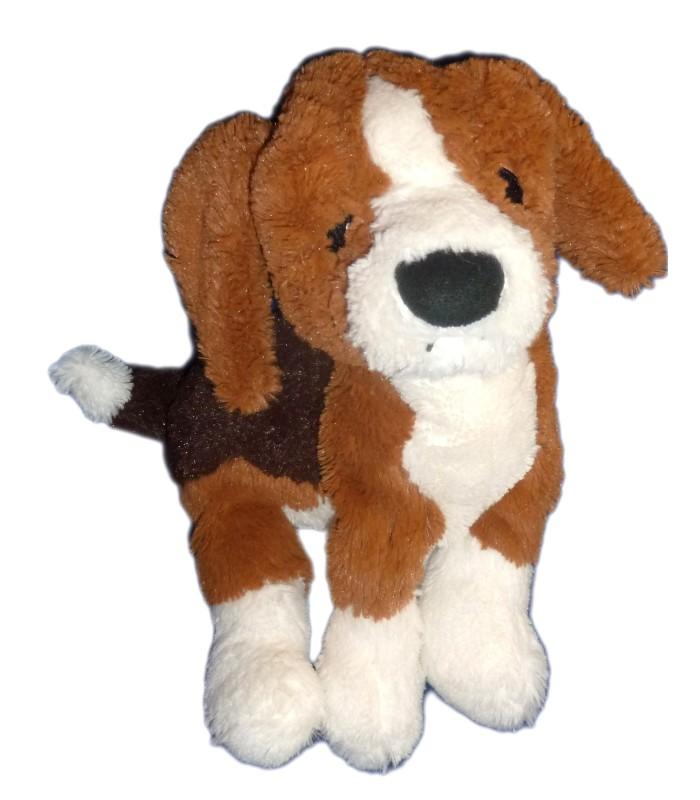 doudou peluche chien beagle noir marron blanc ikea l 34 cm