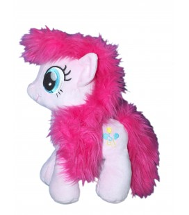 Peluche Mon Petit Poney - My Little Pony - Rose - Longs poils - H 26 cm