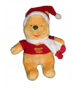 Doudou peluche WINNIE - Bonnet Echarpe Flocon - Assis 26 cm - Disney Nicotoy 587/0846