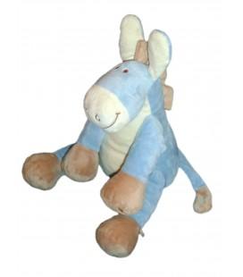 Doudou Peluche ANE bleu Paco NOUKIE'S Noukies Epis de blé 30 cm assis