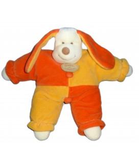 DOUDOU ET COMPAGNIE - Doudou chien PATOU orange jaune - H 25 cm