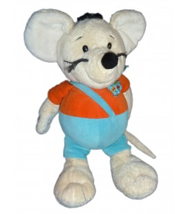 Doudou peluche SOURIS bleu orange ALTHANS CLUB 40 cm 6081