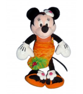 Peluche doudou MINNIE Robe Tahitienne - Hawai - Disney Nicotoy - H 34 cm