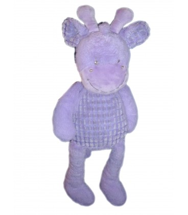 Doudou peluche GIRAFE mauve - TEX Baby Carrefour - H 50 cm