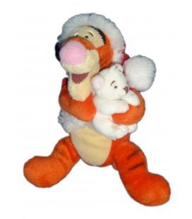 Doudou Tigrou Peluche Noel Santa ours polaire blanc 23 cm Disney Store