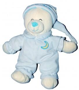 Doudou peluche ours bleu Gipsy Baby Bear Lune