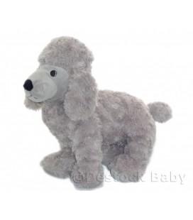 """IKEA - peluche CHIEN gris Caniche - 35 cm - Gosig Pudel Plush 13"""" Avec etiq. tissu"""