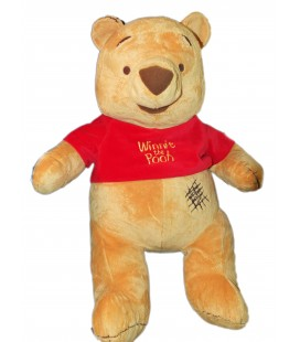 GRANDE PELUCHE XXL WINNIE L'OURSON EXTRA LARGE PLUSH THE POOH H 60/80 CM DISNEY Nicotoy - Couture Zig Zag