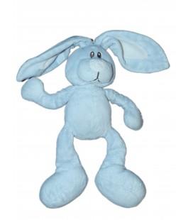 Doudou LAPIN bleu blanc KIMBALOO La Halle - H 22 cm