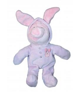 Doudou peluche Porcinet Pyjama Grenouillere mauve 32 cm - Disney Nicotoy 587/1886