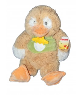 Peluche CANARD beige orange ALTHANS CLUB 40 cm NEUF