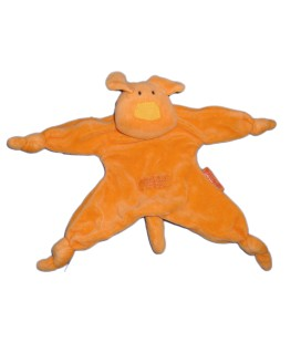 Doudou plat CHIEN orange P'tit biscuit MARESE