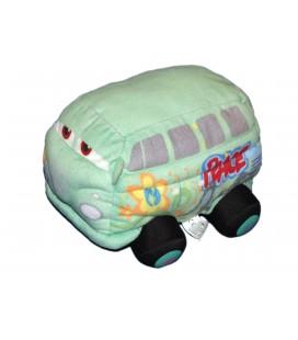 Peluche Doudou Voiture CARS - Bus Vert - Peace - Disney Pixar Nicotoy - L 20 cm