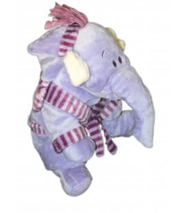 Doudou peluche éléphant mauve LUMPY Pyjama Peignoir 22 cm Disney Nicotoy 587/5033