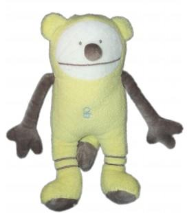 Doudou Vibrant OURS jaune - OB - OBAIBI - H 22 cm