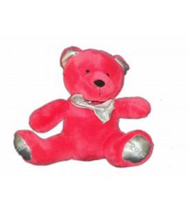 Peluche doudou OURS rose Fushia rouge NOCIBE 2014 - H 20 cm