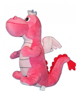 Peluche DRAGON Rose - Drago and Dino - 34 cm - Cora Nal