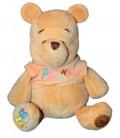 Doudou peluche WINNIE - Pull orange - Grelot - H 20 cm - Disney Store Disneyland