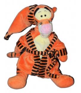 Doudou Peluche TIGROU Peignoir Bonnet - Disney Nicotoy - H 32 cm - Robe de chambre orange 587/5033