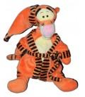 Doudou Peluche TIGROU Peignoir Bonnet - Disney Nicotoy - H 32 cm - Robe de chambre orange