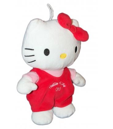 Peluche HELLO KITTY - Poche dans le dos - H 26 cm - Sanrio Jemini