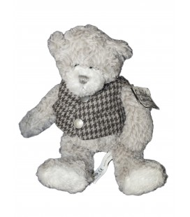 Peluche OURS Gris Soft Sensation - Cloudy Lane - 30 cm