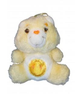 VINTAGE Peluche Bisounours Grosjojo Jaune Soleil Care Bears 18 cm