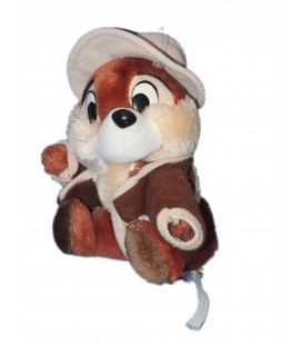 Doudou Peluche écureuil Tic et Tac 18 cm Chapeau gilet Disney