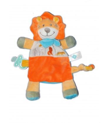 Doudou plat LION orange - TEX Baby Carrefour