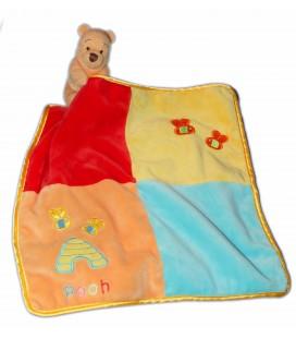 Doudou WINNIE The Pooh Mouchoir carré 27 cm - Abeilles Ruche - Disney Store