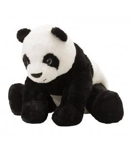 Peluche PANDA blanc noir IKEA KRAMIG Plush 30 cm Avec etiquettes en tissu