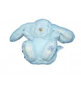 Doudou LAPIN bleu H 10 cm TARTINE ET CHOCOLAT