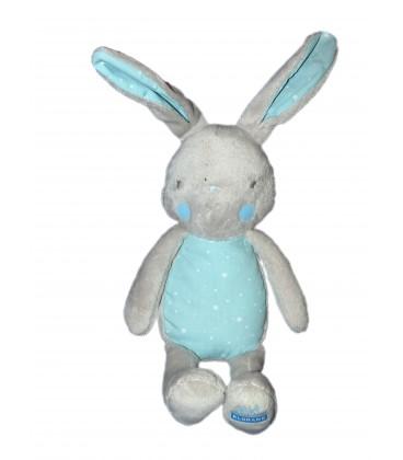 Doudou LAPIN bleu Etoiles - Bébé KLORANE 26 cm