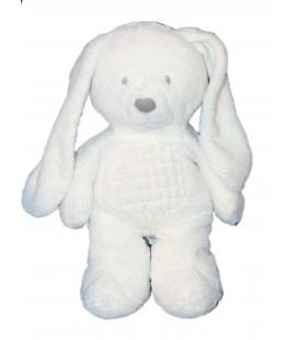 Doudou peluche lapin Blanc - TEX Baby Carrefour CMI Nicotoy - 35 cm