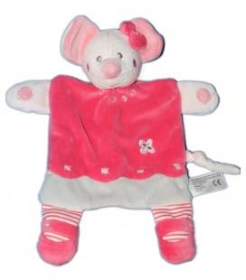 Doudou plat souris rose gris Simba Toys 569/0072
