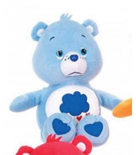 Peluche BISOUNOURS bleu Nuage - Grognon ou Grumpy Bear - H 26 cm - CARE BEARS